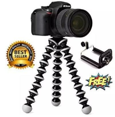 Gorilla Tripod Large Size 10.3 inches For YouTuber & Bloggers Bendy Tripod